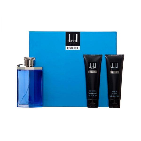 Estuche Desire Blue | Dun Hill | Eau de Toilette Spray 100ml | Gel de baño 90ml | After shave 90ml