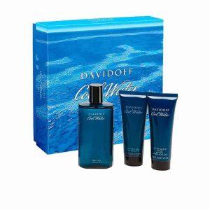 Estuche Cool Water | Davidoff | Eau de Toilette Spray 100ml | Gel de baño 75ml | After Shave 75ml