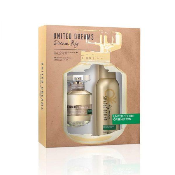 Estuche United Dreams Dream Big | Benetton | Eau de Toilette Spray 80ml | Desodorante Spray 150ml