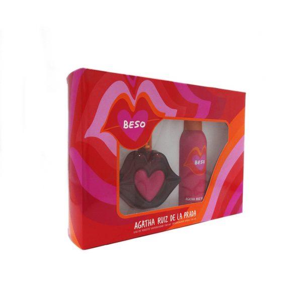 Estuche Beso | Agatha Ruiz de la Prada | Eau de Toilette Spray 100ml | Desodorante Spray 150ml