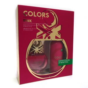 Estuche Colors Pink | Benetton | EDT Spray 80ml | Desodorante Spray 150ml