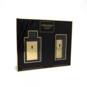 Estuche The Golden Secret | Antonio Banderas | EDT Spray 100ml | Desodorante Spray 150ml