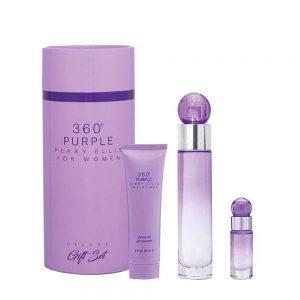 Estuche 360ø Purple Deluxe I Perry Ellis I 3 piezas